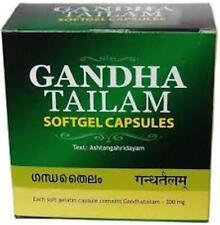 Gandha Tailam Softgel Capsules By Arya Vaidya Sala Free Shipping