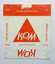 Old Vintage Bulgarian Cigarette - Tobacco Packet Label. Kom Special
