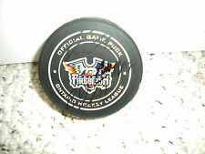 OHL FLINT FIREBIRDS SIGNED 2015-2016 OFFICIAL HOCKEY GAME PUCK  + FREE PUCK CASE