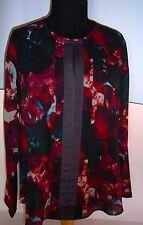 Simply Vera Wang Long Sleeve Top Blouse Petite M Floral  NWT