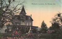 Hand Colored Postcard Elmhurst Academy in St. Helena, California~115089