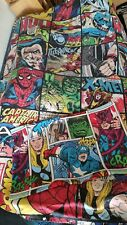Official Marvel Comics Double Sided Print Duvet Single  With Pillow Case