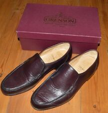 Mens Grenson Burgundy Kid Illinois True Moccasin Shoes Size UK 11 with Box