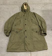 USAF Korean War M47 M-1947 Green Parka Coat w/ Pile Liner Size Large