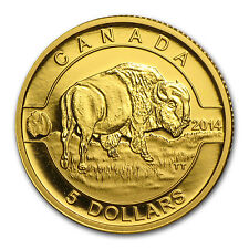 2014 Canada 1/10 oz Proof Gold $5 Bison (w/out Box) - SKU #84480