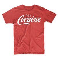 Enjoy Cocaine Adult Novelty Humor Funny Joke T-Shirt