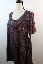 NWT LuLaRoe Perfect T Teal Paisley Design Sz XXS Lularoe Perfect T-shirt
