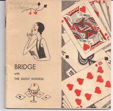 BRIDGE Silent Hostess GE Cleveland OHIO Kurt Wiese THE HINES COMPANY Baltimore