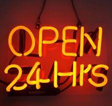 OPEN 24HRS Business Store Wall Window Decor Beer Bar Neon SIGN Light Display