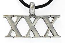 XXX ADULT Silver Pewter Pendant Leather Necklace Surfer