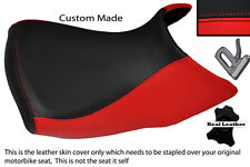 RED & BLACK CUSTOM FITS BMW R 1200 GS FRONT RIDER  04-12 LEATHER LOW SEAT COVER