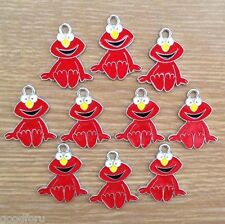 Lot Wholesale 10pcs Sesame Street Elmo Metal Charm Pendants Jewerly Making Craft