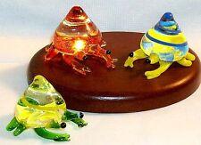"Crab ArtGlass MINI 1"" figurine HERMIT CRAB assorted colors 6 pc.box lot"