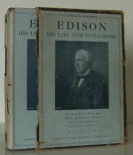 FRANK LEWIS DYER Edison, His Life and Inventions EARLY EDITION SIGNED BY EDISON