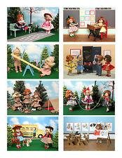 Vintage Ginny Doll 'School Days' Greeting Cards