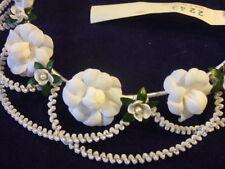 Vintage Millinery Flower Girl Headpiece Communion Y55