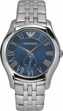 Emporio Armani Classic Watch Blue/Silver Stainless Steel Analog Quartz Men's