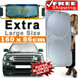 Large Car Sun Shade Visor Van SUV Windscreen Sunshade Car Cover Protector Cooler
