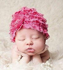 Girls' Lace Baby Hats