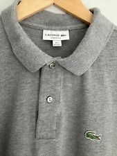 Lacoste Polo Shirt size XXL (7) Classic Fit Mens Grey Marl, Excellent Condition