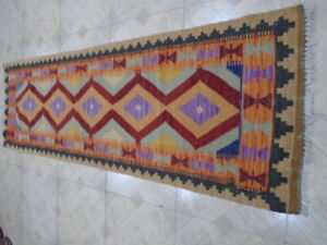 25021 # Amazing Afghan Chobi Runner  Hand Wooven Kilim Hand Made 192 x 059 CM