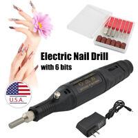 Professional Electric Nail File Kit Manicure Pedicure Polishing Shape Tool US