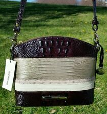 New BRAHMIN MINI DUXBURY Sterling Kapoor Leather Crossbody Shoulder Bag
