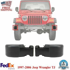 New Front Bumper End Caps Set of 2 For 1997-2006 Jeep Wrangler TJ