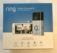 Ring Video Doorbell 2 - Wireless Satin Nickel 1080 HD Wifi - New in Box, Sealed
