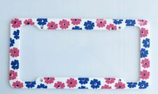 Retro Daisy Pink License Plate Frame