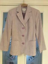 Ladies Clothes Size 8 Petite M&S Marks And Spencer Lilac Stripe Linen Mix Jacket