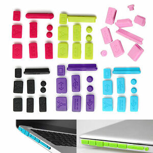 For MacBook Pro Accessory Cover Set 9pcs Protector Silicone Anti Dust Plug Ports