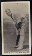 WILLS AUSTRALIAN-CRICKET SEASON 1928/29-#05- RH BETTINGTON NSW - RARE SUBJECT!!!