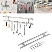 16'' Magnetic Knife Holder Double Bar Rack Wall Mounted Stainless Steel Kitchen