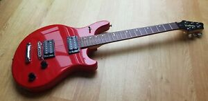 """SUPERB CONDITION 1998 Washburn BT2 Electric Guitar Grover Tuners Red 24"""" Scale"""