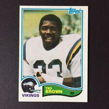 1982 Topps TED BROWN #391  Minnesota Vikings  North Carolina State