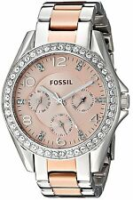 Fossil Women's ES4145 Riley Multi-Function Two-Tone Stainless Steel Watch