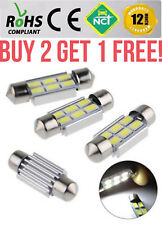 6 LED 39mm White Reg Plate Interior 6000K Bulb Light 5050 SMD C5W 6418 12V
