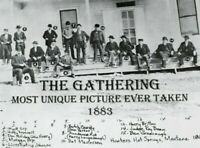 OLD WEST 1883 THE GATHERING WYATT EARP BUTCH CASSIDY WANTED POSTER 8x10 PHOTO