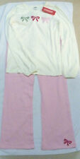 NWT GIRL GYMBOREE CLASSROOM KITTY PINK YOGA/KNIT PANTS & CREAM SHIRT BOWS 12 LOT