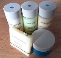 New Anne Semonin Paris 5 Travel Toiletries Set: Shampoo, Shower Gel, Body Lotion