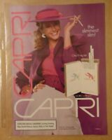 Vintage 1980's CAPRI Brand Cigarette Smoking Original Print Ad Advertising