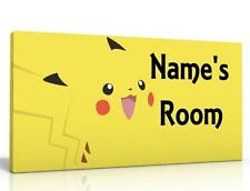 PERSONALISED DOOR SIGN / NAME PLAQUE - POKEMON GO FREE P&P