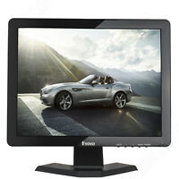 "Eyoyo 15"" TFT LCD Monitor 1024x768 1080P BNC/VGA/AV/HDMI/USB for CCTV Car Camera"