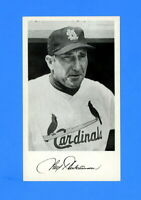 1957  ST LOUIS CARDINALS TEAM ISSUED  POSTCARD FRED HUTCHINSON EX-MT +