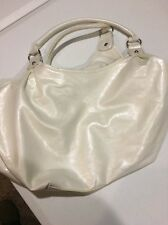 Woman's Medium Sized Pearl White Purse, New Without Tags, Been In Storage