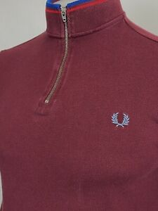 Fred Perry X Bradley Wiggins Tipped Cycling Shirt M (Port) Mod 60s Casuals Skins