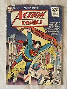 ACTION COMICS #210-SUPERMAN LAND THEME PARK STORY-BILL FINGER-BORING GOOD+ 2.5
