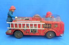 Vintage Old Battery F.D.Fire Brigade Modern Toy Litho Tin Running Toy Japan Made