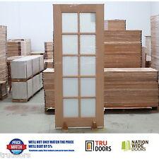 French Doors 10 Lite Translucent White Glass Solid Timber Doors Meranti Hardwood